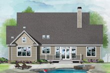 Ranch Exterior - Rear Elevation Plan #929-1091