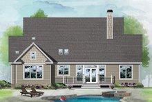 Architectural House Design - Ranch Exterior - Rear Elevation Plan #929-1091