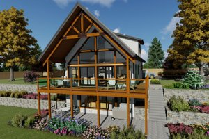 Country Exterior - Front Elevation Plan #126-235