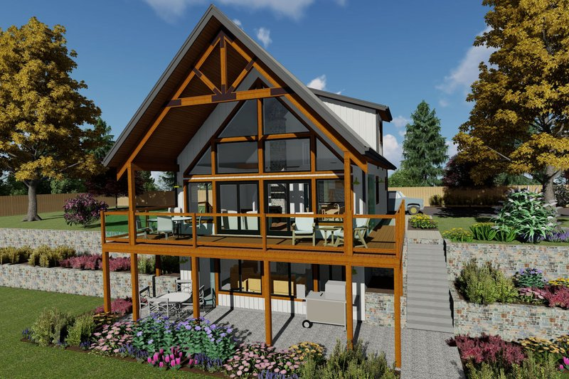 Architectural House Design - Country Exterior - Front Elevation Plan #126-235