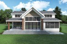 House Plan Design - Farmhouse Exterior - Rear Elevation Plan #1070-134