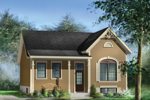 Country Exterior - Front Elevation Plan #25-4448