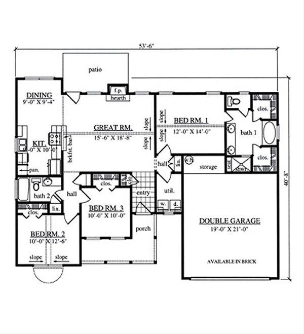 Farmhouse Floor Plan - Main Floor Plan #42-403