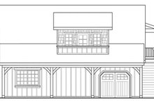 Home Plan Design - Craftsman Exterior - Other Elevation Plan #124-657