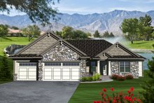 Ranch Exterior - Front Elevation Plan #70-1116