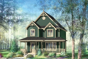 Country Exterior - Front Elevation Plan #25-4475