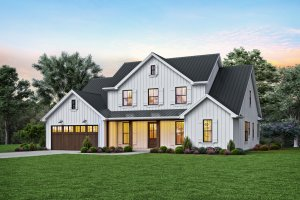 Contemporary Exterior - Front Elevation Plan #48-1003