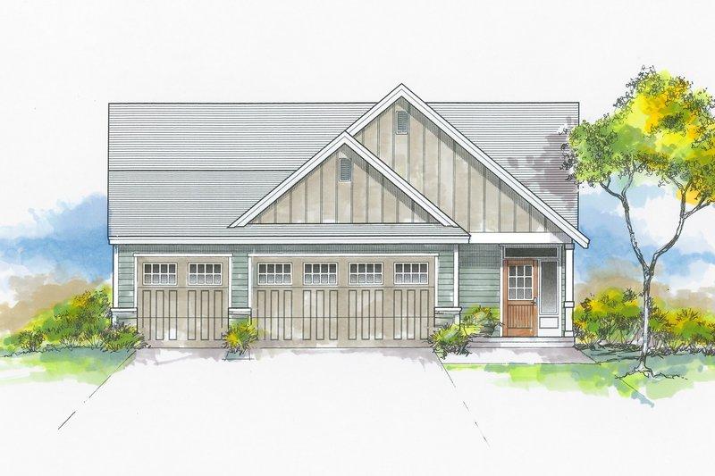Dream House Plan - Craftsman Exterior - Front Elevation Plan #53-655