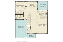Contemporary Floor Plan - Main Floor Plan Plan #17-2600