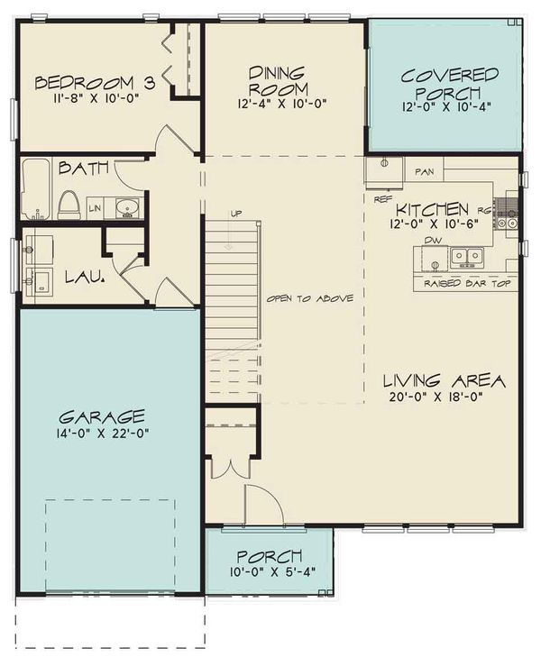 Contemporary Floor Plan - Main Floor Plan Plan #17-2600