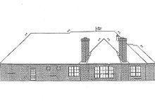 European Exterior - Rear Elevation Plan #310-688