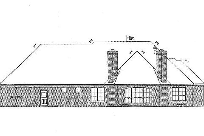 European Exterior - Rear Elevation Plan #310-688 - Houseplans.com