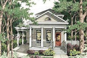 Cottage Exterior - Front Elevation Plan #406-259