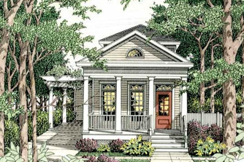 Cottage Style House Plan - 3 Beds 2.5 Baths 1587 Sq/Ft Plan #406-259 Exterior - Front Elevation