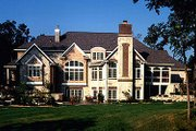 European Style House Plan - 5 Beds 5.5 Baths 6571 Sq/Ft Plan #70-559 Exterior - Rear Elevation