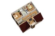 Cabin Style House Plan - 3 Beds 1 Baths 1382 Sq/Ft Plan #25-4587 Floor Plan - Upper Floor Plan