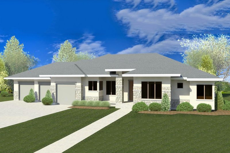 Dream House Plan - Contemporary Exterior - Front Elevation Plan #920-26