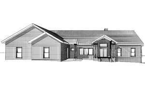 Country Exterior - Front Elevation Plan #123-111