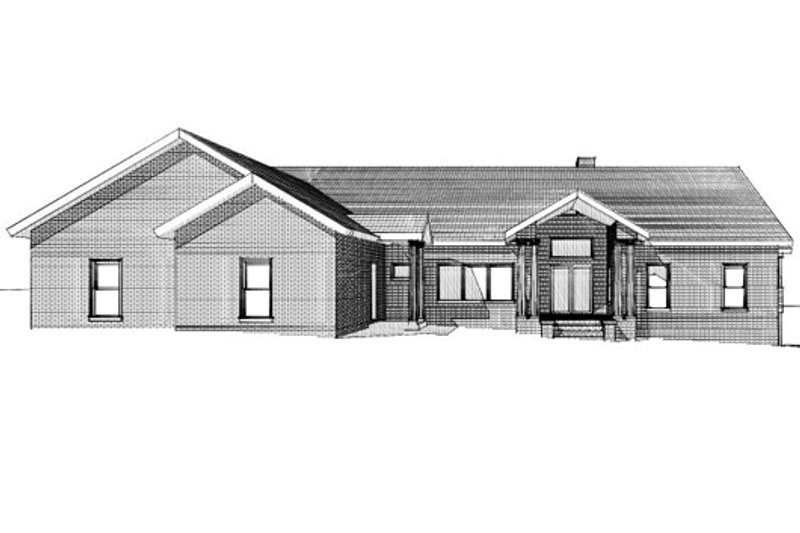 Country Style House Plan - 3 Beds 3 Baths 3121 Sq/Ft Plan #123-111 Exterior - Front Elevation