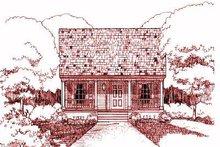 Dream House Plan - Cottage Exterior - Front Elevation Plan #79-117