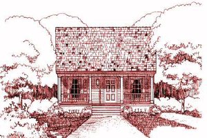 Cottage Exterior - Front Elevation Plan #79-117