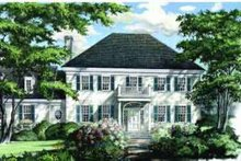 Colonial Exterior - Front Elevation Plan #137-104