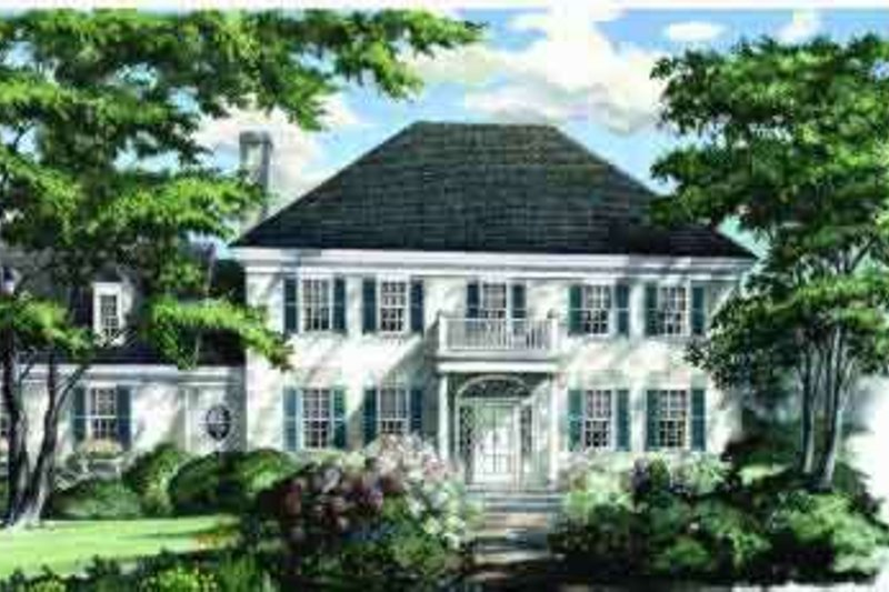 Colonial Style House Plan - 3 Beds 2 Baths 2357 Sq/Ft Plan #137-104 Exterior - Front Elevation