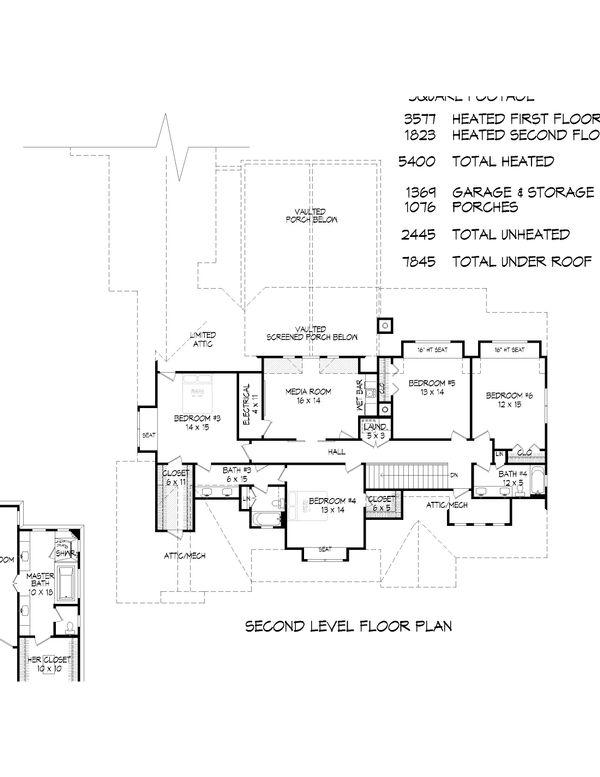 House Plan Design - Country Floor Plan - Upper Floor Plan #932-66