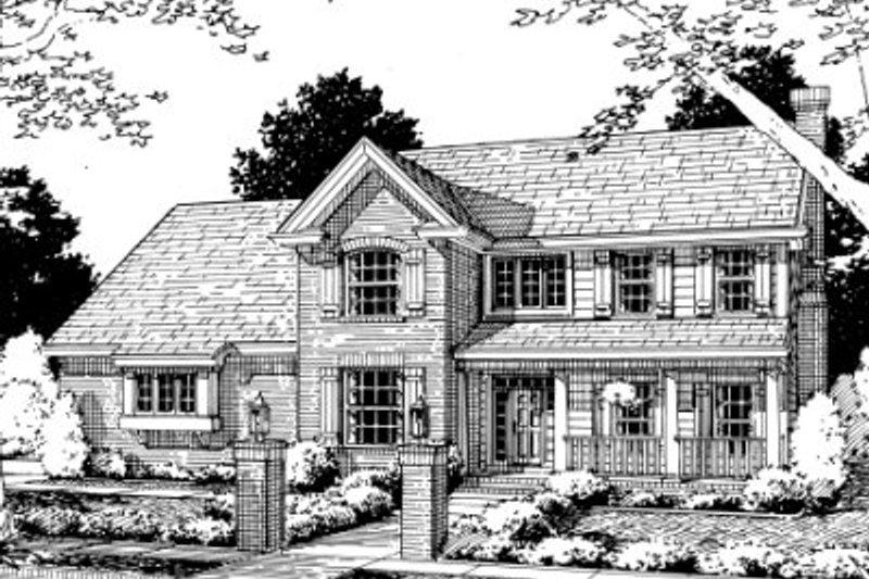 Architectural House Design - Traditional Exterior - Front Elevation Plan #20-350