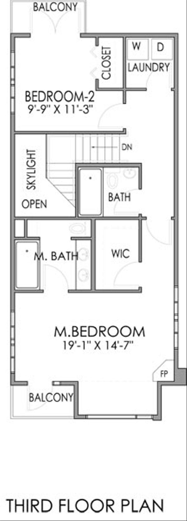 Modern Floor Plan - Upper Floor Plan Plan #518-2