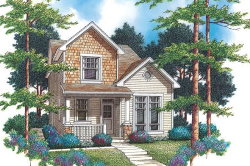 Country Exterior - Front Elevation Plan #48-308