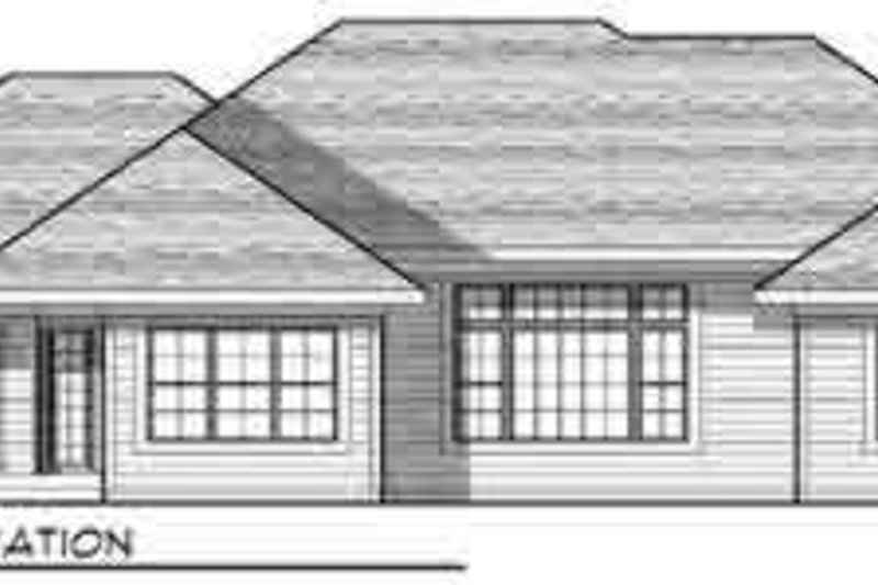 Traditional Exterior - Rear Elevation Plan #70-829 - Houseplans.com