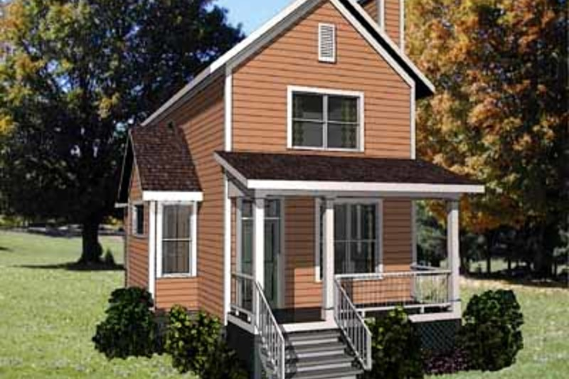 Country Exterior - Front Elevation Plan #79-203 - Houseplans.com