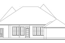 Cottage Exterior - Rear Elevation Plan #406-9663