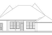 House Plan Design - Cottage Exterior - Rear Elevation Plan #406-9663