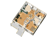 Country Style House Plan - 2 Beds 1 Baths 900 Sq/Ft Plan #25-4638 Floor Plan - Main Floor Plan