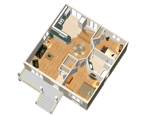 Country Floor Plan - Main Floor Plan Plan #25-4638