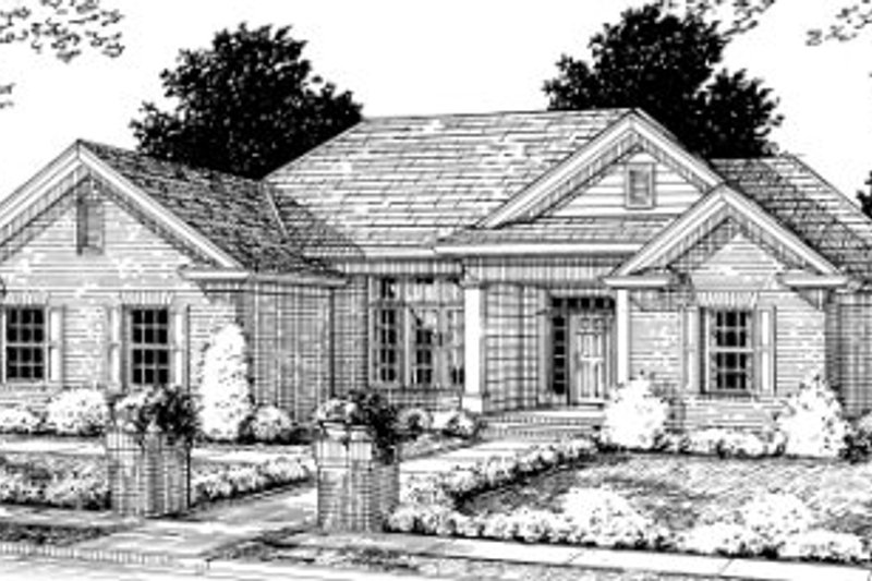 Traditional Exterior - Front Elevation Plan #20-338