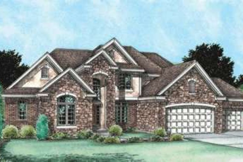 Traditional Exterior - Front Elevation Plan #20-1773 - Houseplans.com