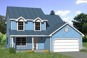 Traditional Style House Plan - 4 Beds 2.5 Baths 1505 Sq/Ft Plan #116-179