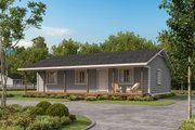 Country Style House Plan - 3 Beds 2 Baths 1120 Sq/Ft Plan #1077-1