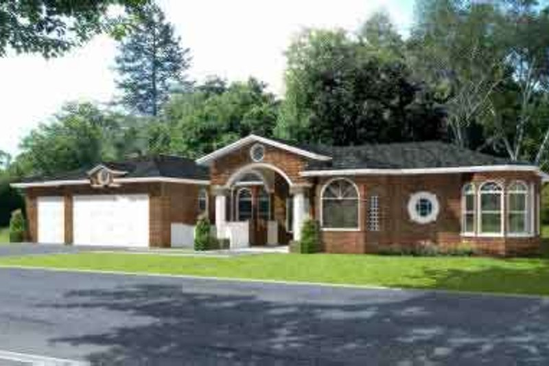 House Plan - 4 Beds 3 Baths 3043 Sq/Ft Plan #1-756 Exterior - Front Elevation