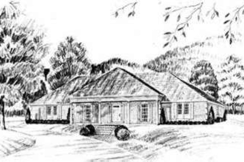 Southern Exterior - Front Elevation Plan #36-422