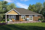 Ranch Style House Plan - 3 Beds 2.5 Baths 2137 Sq/Ft Plan #48-925 Exterior - Rear Elevation