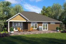 House Plan Design - Ranch Exterior - Rear Elevation Plan #48-925