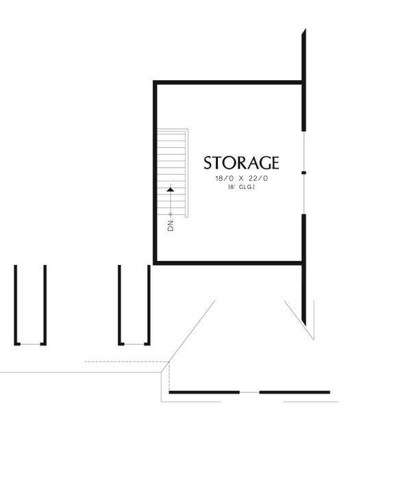 Craftsman Floor Plan - Upper Floor Plan Plan #48-540
