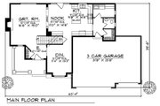 Country Style House Plan - 4 Beds 3.5 Baths 2372 Sq/Ft Plan #70-599 Floor Plan - Main Floor Plan