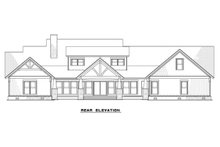 Craftsman Exterior - Rear Elevation Plan #923-15