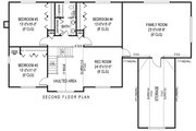 Country Style House Plan - 5 Beds 2.5 Baths 3464 Sq/Ft Plan #11-232 Floor Plan - Upper Floor