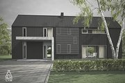 Modern Style House Plan - 3 Beds 2.5 Baths 1752 Sq/Ft Plan #552-3 Exterior - Front Elevation